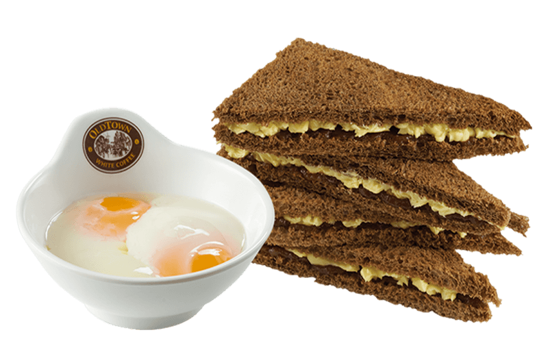 CTB Kaya & Butter Toast (Double) with Soft Boiled Eggs