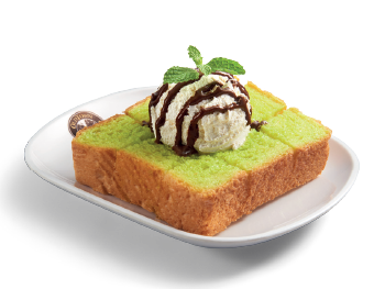 "Pandan Toast with Ice Cream<br /><span lang=""zh"">班兰烤吐司&雪糕</span>"